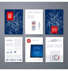 Templates flyer brochure magazine cover vector
