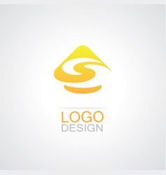 triangle letter s logo vector image