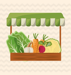 Vegetables shop market image vector