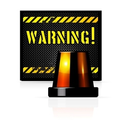 Warning background vector image vector image