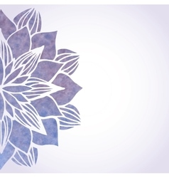 With watercolor violet floral pattern vector