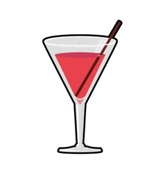 Cocktail glass icon drink design graphic vector