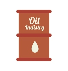 Oil barrel industry icon vector