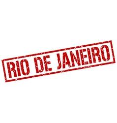 Rio de janeiro red square stamp vector