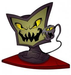 monster computer vector image