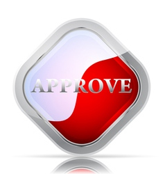 Approve icon on a white background vector