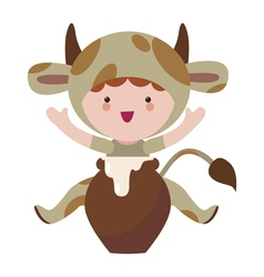 Little cute cow character vector