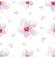 Spring background seamless pattern with sakura vector image