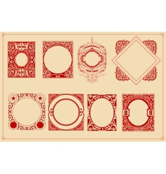 Retro cards templates set vector