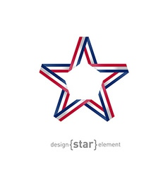 4th July Independence day star from ribbon vector image vector image