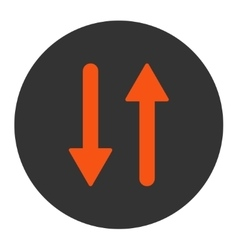 Arrows exchange vertical flat orange and gray vector