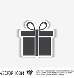 Gift box icon with a bow holiday or celebration vector