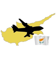 Fly me to the cyprus vector