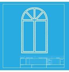 Window simple sign white section of icon on vector