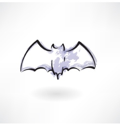Bat grunge icon vector
