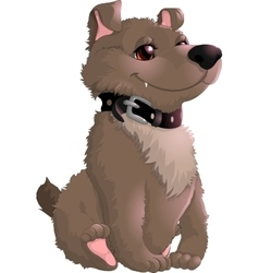 beautiful gray dog on a white background vector image