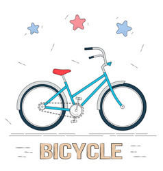 bike in cartoon style trendy style for graphic vector image vector image