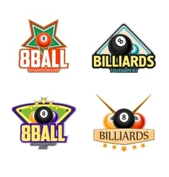 Billiards pool and snooker sport icons vector