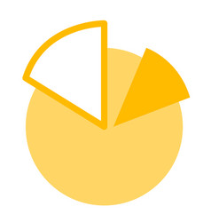 Business pie chart cartoon vector