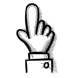 Cartoon image of click icon hand pointer symbol vector