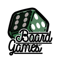 Color vintage board games emblem vector