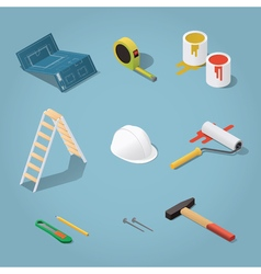 Constructor tools set vector image vector image