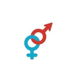 Gender logo on white background - stock vector image vector image