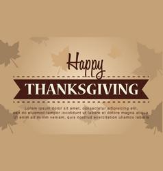 Happy thanksgiving celebration autumn background vector