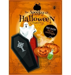 Invitation placard to spooky halloween party vector