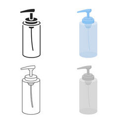 lotion icon in cartoon style isolated on white vector image vector image