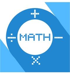 Math symbol vector