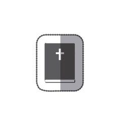 middle shadow sticker grayscale with holy bible vector image