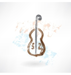 music cello grunge icon vector image