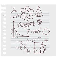 physics paper vector image vector image