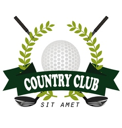 Professional logo of golf club labels and emblems vector image vector image