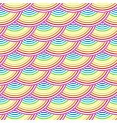 Rainbow fish scales seamless pattern vector