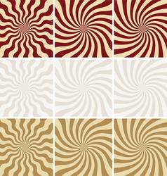 retro background set of star burst vector image vector image
