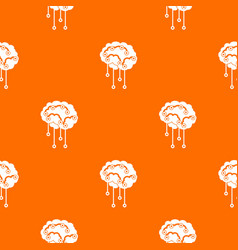 sensors on human brain pattern seamless vector image vector image