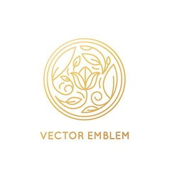 Simple and elegant logo design template in trendy vector