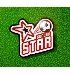 Soccer badge logo template football design vector