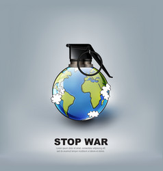 Stop world war concept advertisement vector