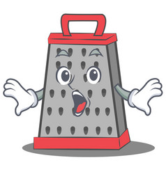 Suprised kitchen grater character cartoon vector