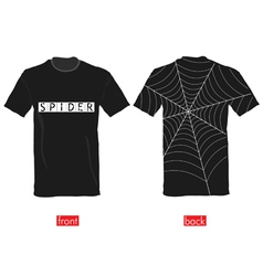 T-shirts with spider web on it vector
