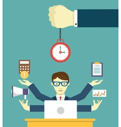 Time management - pledge of success vector image vector image