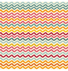 Seamless pattern with color wavy lines vector