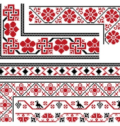Collection of national ornaments vector