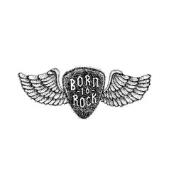 Dotwork born to rock vector