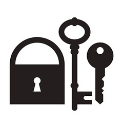 Padlock and keys vector