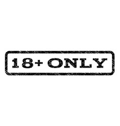 18 plus only watermark stamp vector