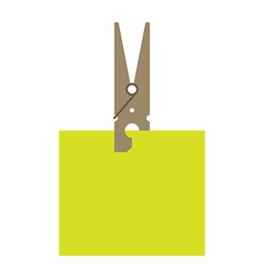 Clothes peg and reminder note vector